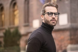 Man with Glasses in street - image.